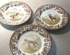 Spode woodland set of 3 salad plates includes 3 newest designs