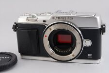 【B- Good】 Olympus E-P5 Silver 16.1 MP Mirrorless Digital Camera Body JAPAN #2518