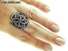 DESIGN 925 STERLING SILVER SIZE 8 RUBY RING TURKISH HANDMADE HURREM JEWELRY 3154