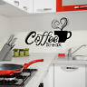Wandtattoo Kaffee Wandaufkleber Wandsticker Cafe Küche Coffee Esszimmer Deko