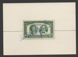 Wife of Panama President Remon Cantera autograph on her 1953 airmail Scott C141