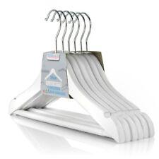 Hangerworld™ 12 Children's 30cm White Wooden Bar Hangers Clothes Baby Trouser