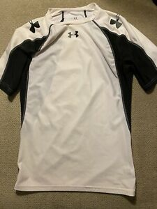 Mens Under Armour Black White Compression Shirt XL