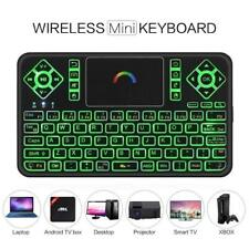 Best Colorful Backlit Mini Wireless Keyboard with Touchpad Mouse Q9 2.4GHz Kj