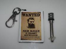 Ned Kelly Custom Match Survival Flint Cigarette Lighter Key Ring Camping Gift