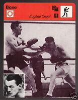 EUGENE CRIQUI French Boxing Boxer 1978 FRANCE SPORTSCASTER CARD 38-02B