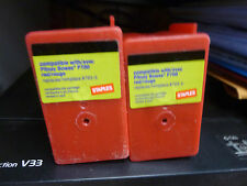 Lot of 2 Partially used Staples Pitney Bowes ink cartridges P700 Red Lqqk