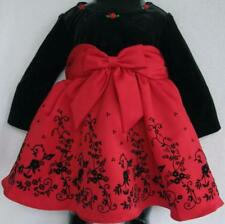 NWT Rare Edition Girls Red & Black Party Dress(Size 6-9 Months) MSRP$60.00 NEW
