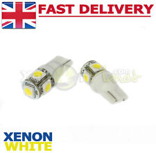 2x W5W 501 T10 5 SMD LED License Number Plate Light Bulbs Xenon White 6000K