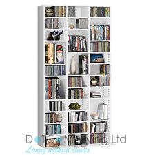 1116 Cd/528 DVD Storage Shelf Rack Unit Adjustable BLURAY Video Book White