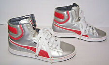 NEW PUMA Men First Round Silver Red BBall Hi Top Sneakers Shoes 34896006 8.5 /41