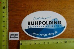 Alter Aufkleber Reise Stadt Land RUHPOLDING Bayern