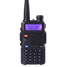 BaoFeng UV-5R Ham Radio Dual Band VHF UHF FM Walkie Talkie 128 Channel 5R Black