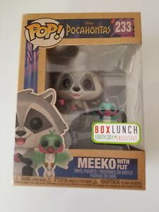 Funko Pop! DISNEY POCAHONTAS MEEKO WITH FLIT BOX LUNCH EARTH DAY EXCLUSIVE #233