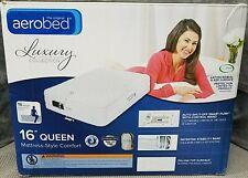 "Aerobed Luxury Collection 16"" Queen Mattress Style Comfort"