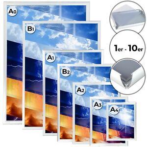 Jago® Alu Klapprahmen A0 A1 A2 A3 A4 B1 B2 Wechselrahmen Bild Plakat Klemmrahmen