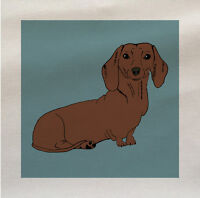 Dog dachshund Sausage Fabric Panel Make A Cushion Upholstery Craft