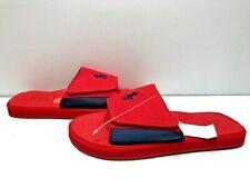 Polo Ralph Lauren Classic Slides Sandals Men's Size 7 Red Pony Logo New Velcro