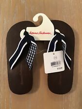 New Other! Hanna Andersson Flip Flop Brown Navy White Size 11/12