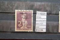 STAMPS GERMANY BERLIN YVERT N°27 USED (F110223)