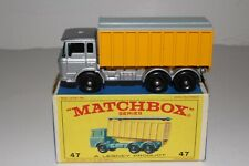 MATCHBOX LESNEY #47C DAF CONTAINER TRUCK, SILVER & YELLOW, EXCELLENT, BOXED