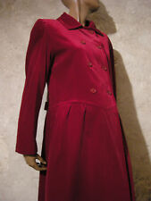 GUY LAROCHE CHIC VINTAGE MANTEAU VELOURS 1980 TRUE VTG COAT 80s VELVET ( 42 )