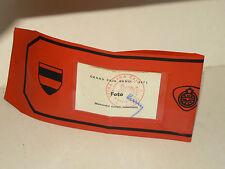 Course AUTO Brassard Grand Prix BRNO VELKA CENA 1971 sports car Armband Armbinde