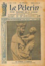 Sculpture la Vierge à l'Oiseau Eglise Notre-Dame-du-Marthuret  1919 ILLUSTRATION