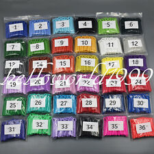 1040pcs=26*40 Mixed Color Dental Orthodontic Ligature Ties Elastic Rubber Band