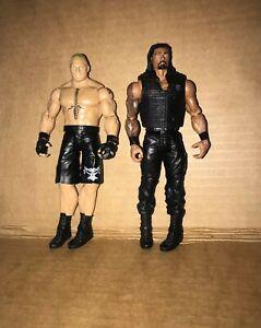 WWE Brock Lesner Wrestler Figure 2012 + Roman Reigns *Shield* 2013 Mattel