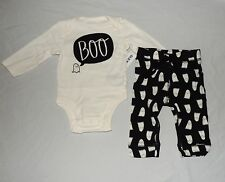 NEW Baby First Halloween Outfit Ghost Long Sleeve Size 3-6 Month Old Navy Boo