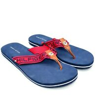Tommy Hilfiger Womens Cleen Flip Flop Sandals Sz 9 Red/Navy New