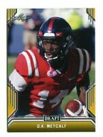 """D.K. METCALF 2019 LEAF DRAFT """"1ST EVER PRINTED """"GOLD"""" ROOKIE CARD! OLE MISS!"""