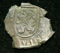 16XX PHILIP IV 8 MARAVEDIS SPAIN LARGE COB COIN - GREAT CONDITION