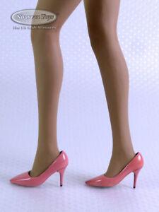 1/6 Scale Phicen, TBLeague, Pop Toys - Female Pink Sharp High Heel Shoes