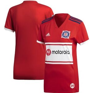 Adidas MLS Chicago Fire Replica Women's Home Jersey Red/White/Navy