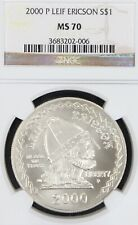 2000-P Leif Ericson Commemorative Silver Dollar NGC MS70.