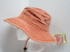 New S/M Dorfman Pacific Cotton Canvas Boonie Hat UPF50+ - Orange - washable