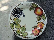 Pier 1 New Harvest Grapes Apple Leaves Flowers Off White Dinner Plate