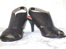 BANDOLINO Mikea Slingback Black Textured Cutout Sandal Heels 6 M NEW