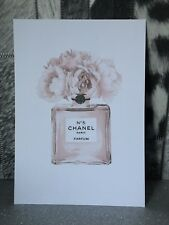 Rose Gold Coco Chanel Print - A4 - Quote, decor, Living room bedroom wall art