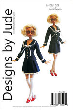 "Manga Doll Clothes Sewing Pattern for 16"" Deja Vu Dolls Tonner"