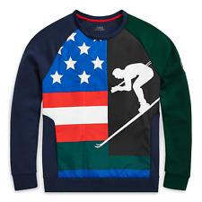 Polo Ralph Lauren Cookie Patch Suicide Ski Sweatshirt Mens L Hi-tech Cp92 92