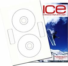 50 ICE Gloss CD / DVD Labels Inline Standard Neato Style (2 labels per Sheet )