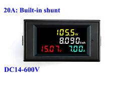 DC14-600V 20-50-100A LCD Digital Voltmeter Ammeter Volt AmpPower Kwh Panel Meter