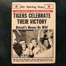 1969 Topps Set DETROIT TIGERS CELEBRATE 1968 WORLD SERIES CHAMPS #169 - VG