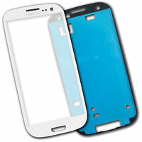 Lens Screen Outer glass  for Samsung Galaxy S3 i9300 White + Adhesive