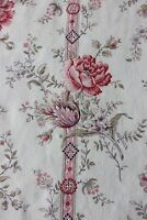 "Antique Country French Floral Victorian Cotton/Linen Home Fabric~L-39"" X W-32"""