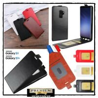 Etui housse coque Clapet Cuir PU Leather Case Samsung Galaxy S9 S9 + plus  Film
