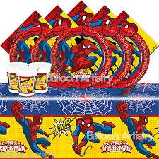 MARVEL Ultimate Spider-Man Per Bambini Festa Di Compleanno Stoviglie Pack Kit per 16